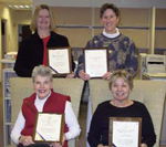 (L to R, upper row): Terri Harshman, Amy Garson; (lower row): Elizabeth Flagg, Judith Swan